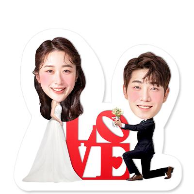 웨딩미니스탠딩 - LOVE